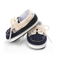 Baby Boy First Walker Stitching Straps Soft Bottom Non-slip Casual Canvas Shoes Blue M
