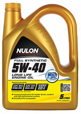 Box Of 3 Nulon Full Synthetic 5W40 Long Life Engine Oil 5L SYN5W40-5