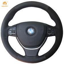 Leather Suede Steering Wheel Cover for BMW F10 520i 528i 730Li 740Li 750Li #BM48