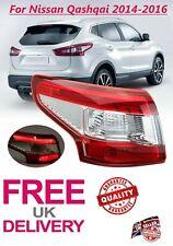 Fit Nissan Qashqai 2014-2016 LED Rear Light Tail Light Lamp Left Side