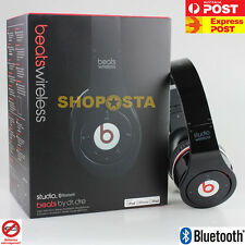 Beats By Dre Studio By Monster (WIRELESS BLUETOOTH & Wired Headphone) BLACK NEW
