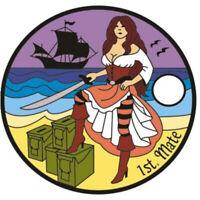 Pathtag #21159 1st Mate Signature Geocoin Alt Pathtags Pirate Ship Geocaching
