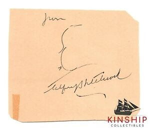 Alfred Hitchcock signed Cut Inscribed with Self Portrait Sketch JSA LOA Z268