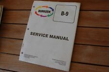 Burkeen B9 Walk Behind Trencher Service Manual repair shop maintenance book 1995