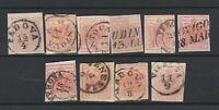 FRANCOBOLLI - 1850/57 LOMBARDO VENETO 10 VALORI USATI NEI VARI TIPI E/825