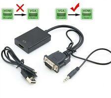 VGA Male to HDMI Female 1080P Output HDTV Audio Video Cable Converter Adapter UK