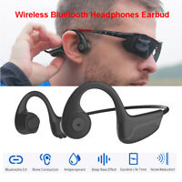 Wireless BT Bone Conduction Headphones Earphone Noise Cancelling Headset Bro