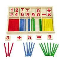 Wooden Montessori Mathematics Material Early Learning Counting Toy for Kids Hot