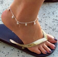 Jingling Bell Anklet 925 Sterling Silver 9""