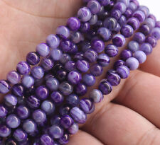 "Wholesale AAA 6mm Purple Agate Gemstones Round Spacer Loose Beads 15""  Gift"