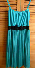 BON PRIX JADE BLACK SPAGHETTI STRAP PLEAT DRESS - SIZE 12/14 (40/42)