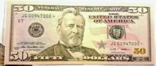 $50 Dollar Bill Star Note - Low serial Number 00947000* - 2009