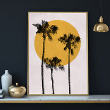 Palm Trees Tropical Botanical Sun Painting Fine Art Print Poster A4 A3 A2 A1
