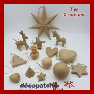 Decopatch Paper Mache Christmas Craft, Tree Decorations ***Big  Selection***
