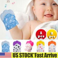 New Silicone Baby Teething Mitt Teether Mitten Glove Safe BPA Chew Dummy Toy US