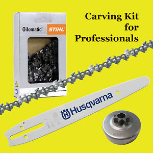 """Stihl Chainsaw 12"""" Carving Kit - Includes 12"""" Dime Bar - Stihl Chain - Sprocket"""