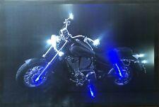LED Bilder LED Bild Wandbild  65 cm x 45 cm Leuchtbild MOTORRAD BLACK Route 66