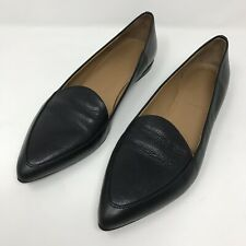 Everlane The Modern Point Flats Loafers Women's Size 11 Black Leather Italian