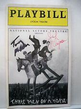 THREE MEN ON A HORSE Playbill TONY RANDALL / JACK KLUGMAN Autographed NYC 1993