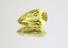 1.84 carat UNTREATED GOLD YELLOW NATURAL CHRYSOBERYL PEAR VVS