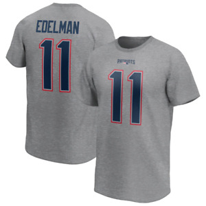New England Patriots Mens Iconic Name & Number T-Shirt - Edelman 11 - New
