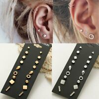 9 Pairs Card Rhinestone Crystal Earrings Set Women Ear Stud Wholesale Jewellery