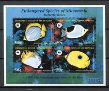 Mikronesien Micronesia 1997 Fische Fishes Poissons Pesci WWF Block A27 MNH
