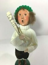 Byers' Choice Caroler 1998 Newspaper Boy in White Sweater specialty item signed