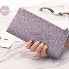 Girls Wallet Money Women PU Leather Purse Ultra-thin Envelope Hand Bag Clutch