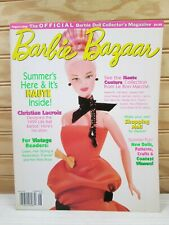 Vtg Barbie Bazaar Magazine August Aug 1999 Fashion Doll Collectors Haute Couture