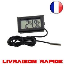 Numérique Ecran LCD Thermomètre Réfrigérateurs Congélateurs Mini 1 M Sonde Noir