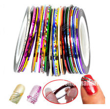 32 PCS Mix Colors Striping Tape Line Nail Art Tips Design Decor Sticker Dec hot
