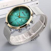 CURREN Men Fashion Crystal Stainless Steel Analog Date Sport Quartz Wrist Watch