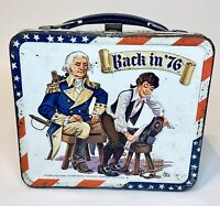"1976 ""Back In '76"" Aladdin Metal Lunchbox Bicentennial, Colonial NO THERMO CUP"