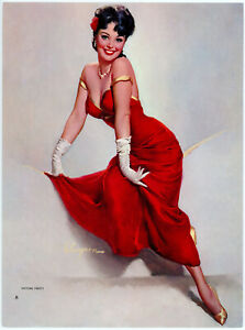 Vintage 1950s Gil Elvgren Brown & Bigelow Glamour Pin-Up Print Picture Pretty