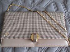 Vintage Glomesh and Leather With Chain Handle Ladies Handbag