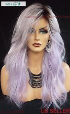 Wavy Cut Wig  Heat Safe Lilac Frost Rooted Hairdo Sexy Hot USA Seller 2029