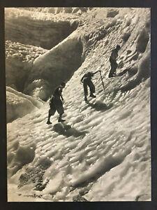 BRASSAI LES ALPINISTES SUR LE GLACIER 1939 IMPRESSION ORIGINALE SUR CARTON