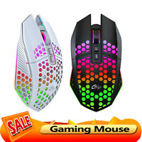 Honeycomb Shell Wireless Gaming Mouse Backlight 8 Button Silent Mice for PC Game