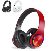 Wireless Headset Bluetooth 5.0 HD Sound Stereo Mic Headphones for PC Computer