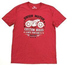 NEW Union Motor Shirt Mens Size Small S Retro Motorcycle Tee Custom Bikes Garage