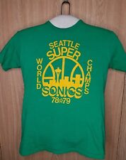 Seattle Supersonics Vintage 1978-79 NBA Basketball World Champs T-Shirt Sz Large