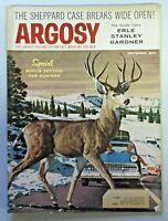 Vintage ARGOSY Men's Magazine October 1957 Jack Dumas Deer Crossing Cover 316