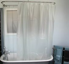Heavy Duty Extra Wide Shower Curtain for a Clawfoot Tub/Opaque w/ Magnets 180x70
