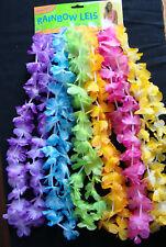 6x Fiesta Hawaiana Leis Flor Guirnalda (Gallina/Ciervo) Playa Collar de flores