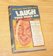 LAUGH YOUR HEAD OFF BY RUNYAN HENRY 1945 QUICK READER POCKET SIZE BOOK
