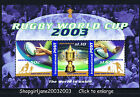 2003 - Australia - Rugby World Cup mini-sheet with International Post - MNH