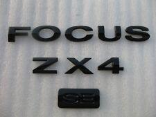 03-07 FORD FOCUS ZX4 SE REAR BLACK BLACKOUT BLACKED OUT EMBLEM LOGO BADGE SIGN