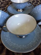 Flintridge Brocade Tea Cups And Saucers