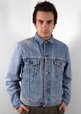VINTAGE MENS RETRO SKINNY FITTED LEVIS FADED DENIM WASHED OUT JACKET L 42